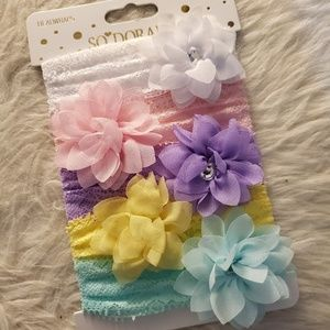 Newborn baby girl headband set